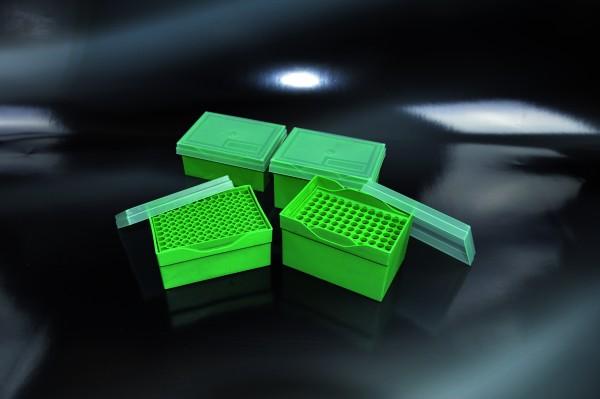 Box + Deckel für 96 Stk., bis 200µl, 98x133x60mm