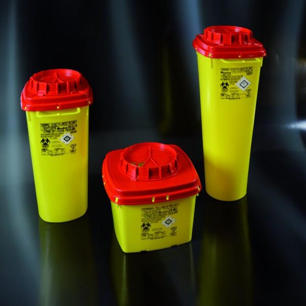 Multibox für med. Abfälle, eckig, hoch, 5 Liter