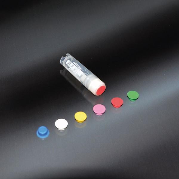 Farbmarkierung weiß für Kryoröhrchen-Deckel