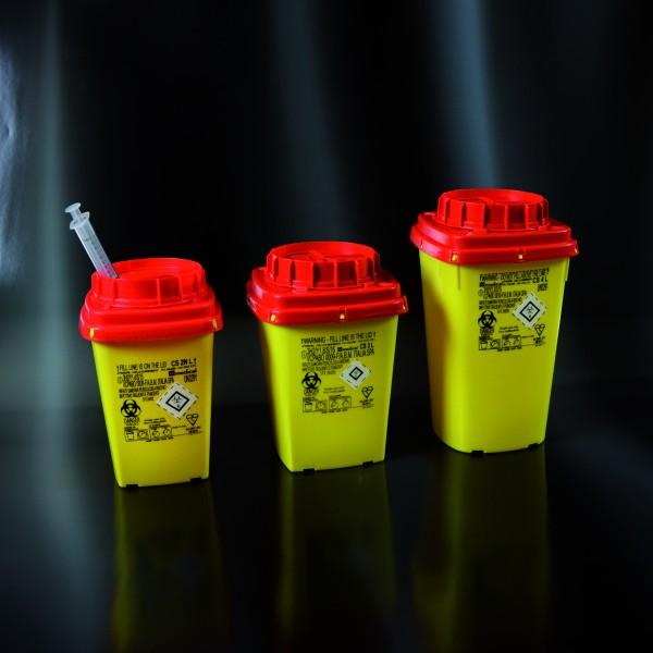 Multibox für med. Abfälle, eckig, 4 Liter