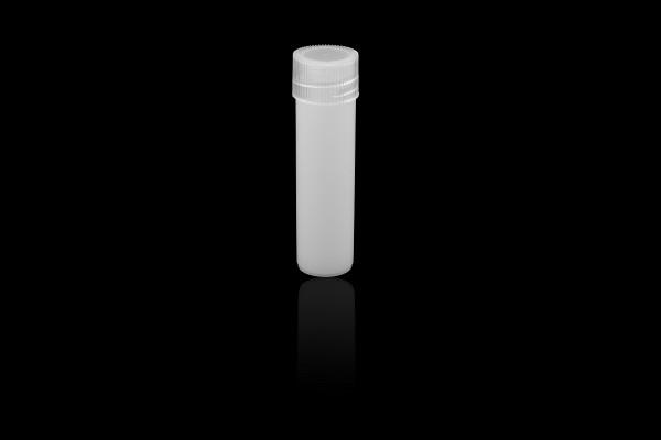 Biopsiegefäß 5ml, weißer Schraubverschluß, transluzent