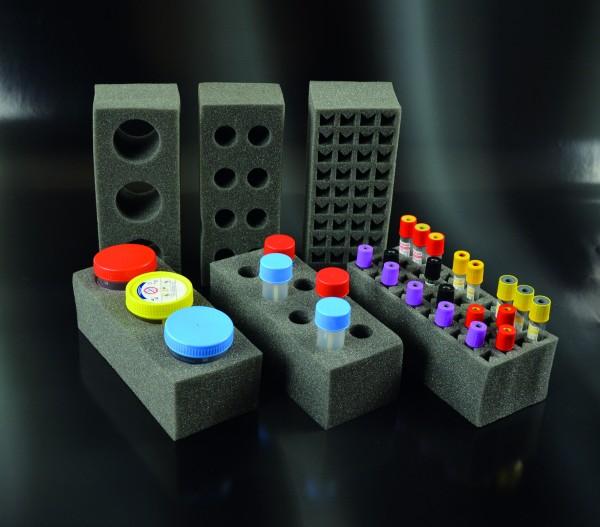 PU-Einsatz für Rack 1123010, für 3 Proben, waschbar