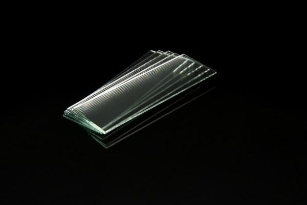 Objektträger, geschnittene Kanten, ohne Mattrand, 90° Ecken