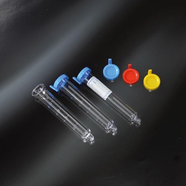 Sediment-Urinröhre aus PS mit Kappe und Etikett