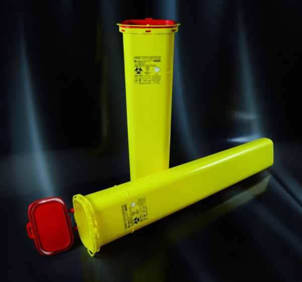 Multibox für med. Abfälle, eckig, lang, 6,4 Liter