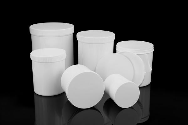 Kunststoffschraubdose 500ml, steril & einzeln verpackt, ohne Deckel