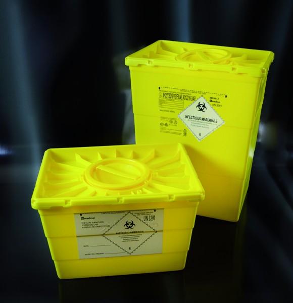 Multibox für med. Abfälle, groß, eckig, 25 Liter