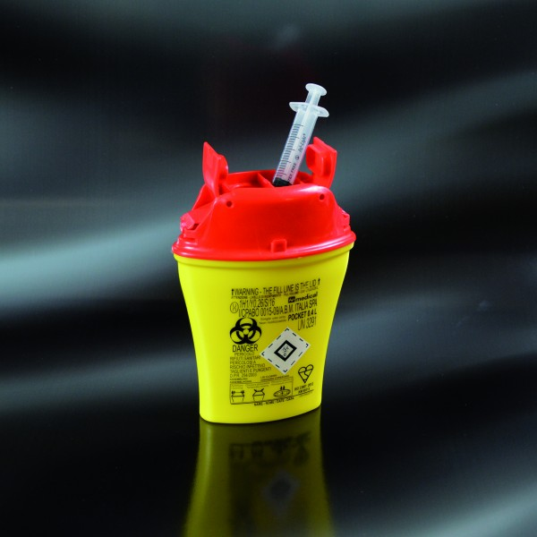 Multibox für med. Abfälle, mini, 0,4 Liter